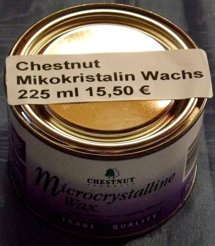 Chestnut Microcrystalline Wax, 225ml